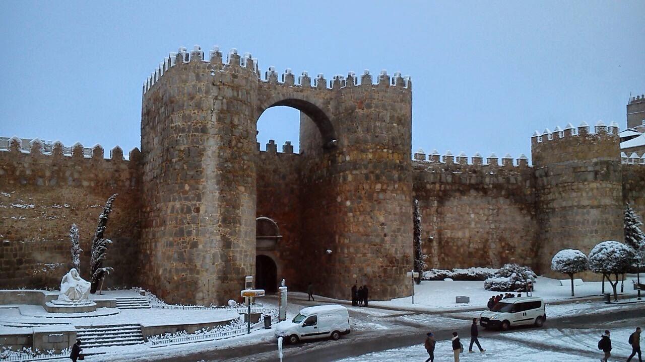 Arco del grande nevado en Ávila - César Díez Serrano